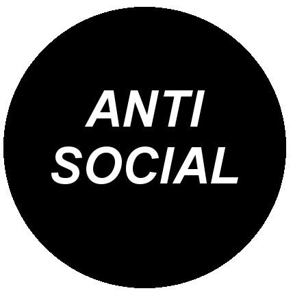 25mm Button Badge - Anti Social
