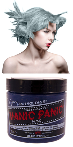 Manic Panic Semi-Permanent Vegan Hair Dye - Blue Steel