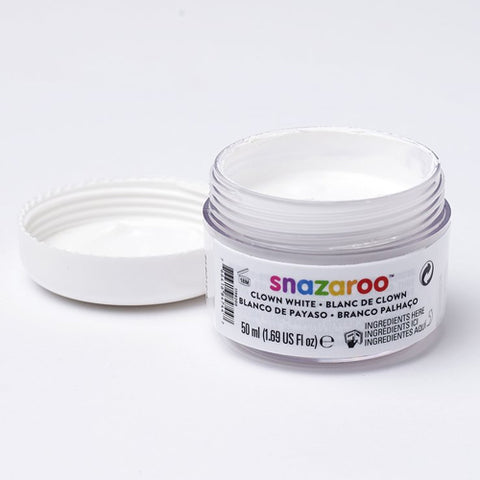 Snazaroo - Clown White Face Paint 50ml