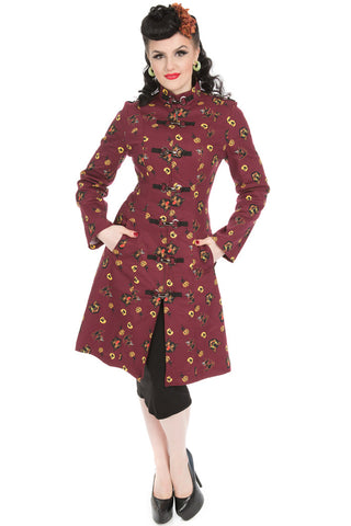 Hearts and Roses London - Cat Print Coat