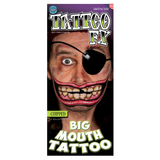 Tinsley Transfers - Big Mouth Tattoo Chipped