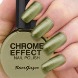 Stargazer - Chrome Nail Polish Green
