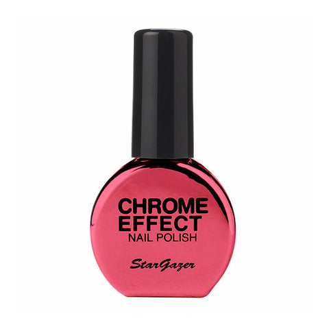 Stargazer - Chrome Nail Polish Red