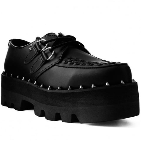 T.U.K Black TUKskin Dino Lug Sole Cleated Creeper