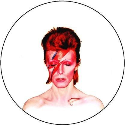 25mm Button Badge - David Bowie Ziggy Stardust