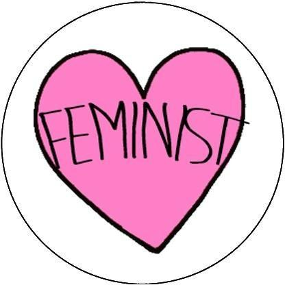25mm Button Badge - Feminist Heart