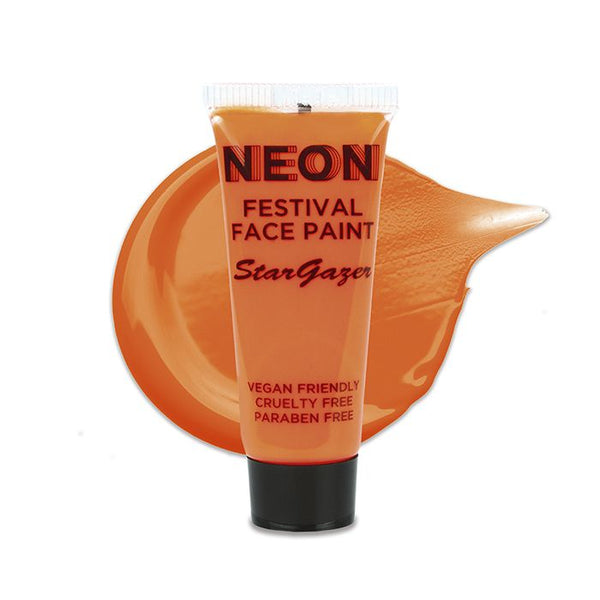 Stargazer - Neon Festival Face Paint Orange