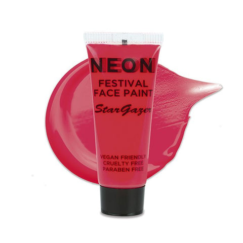 Stargazer - Neon Festival Face Paint Red