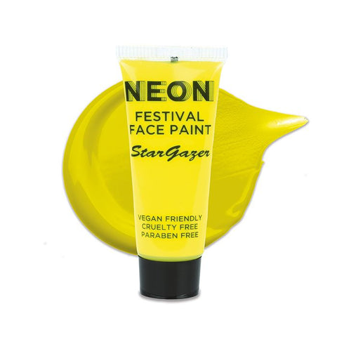 Stargazer - Neon Festival Face Paint Yellow