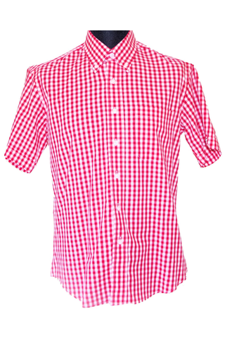 Warrior England - Classic Button Down Fitz Red/White Check