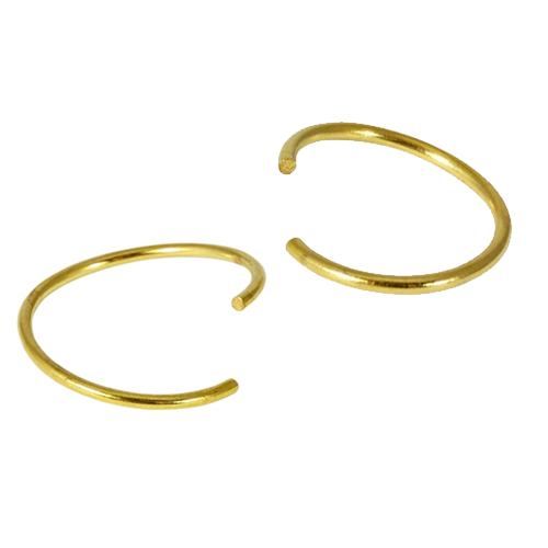 Kingsley Ryan - Surgical Steel Gold Twist Nose Ring