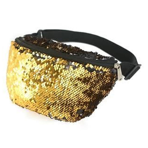 Sequin Bum Bag Gold