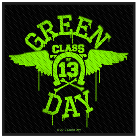 Woven Patch - Green Day 'Neon Wings'