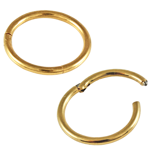 Kingsley Ryan - PVD Gold Titanium Hinged Segment Ring