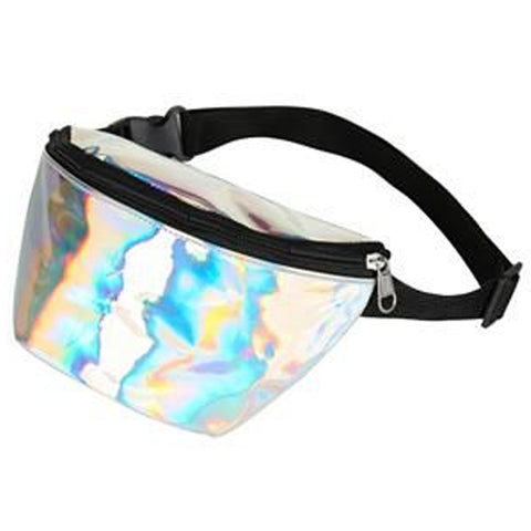 Holographic Bum Bag Silver