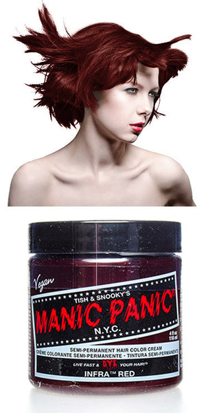 Manic Panic Semi-Permanent Vegan Hair Dye - Infra Red