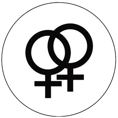 25mm Button Badge - Lesbian Pride