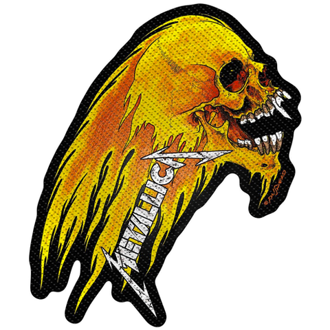 Woven Patch - Metallica 'Flaming Skull'