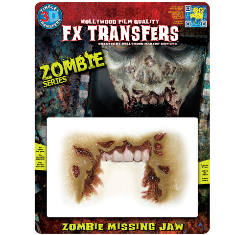 Tinsley Transfers - 3D FX Transfers Missing Jaw Zombie