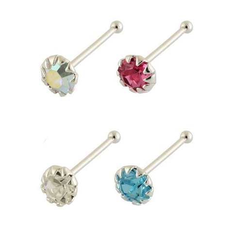 Kingsley Ryan - Assorted Gemset Ball Back Nose Pin