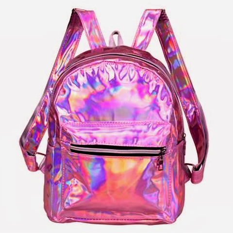 Holographic Pink Mini Backpack
