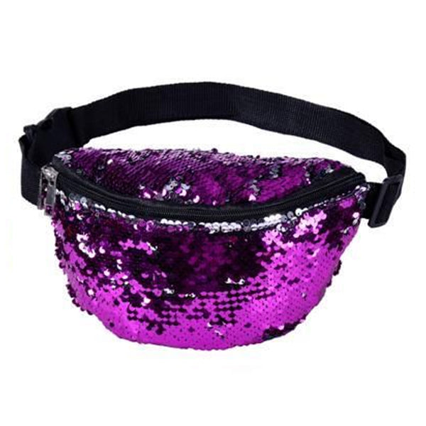 Sequin Bum Bag Purple
