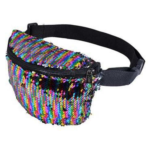 Sequin Bum Bag Rainbow