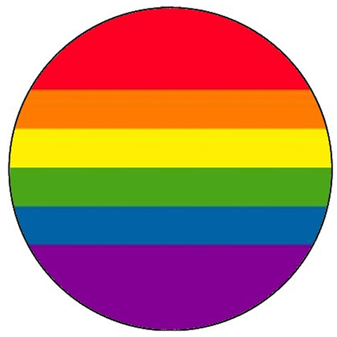 25mm Button Badge - Rainbow Pride Flag