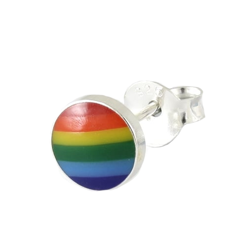 Kingsley Ryan - Rainbow Pride Silver Ear Stud