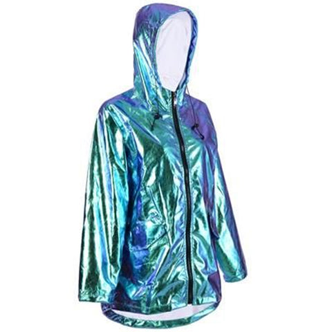 Raincoat Iridescent Blue/Green