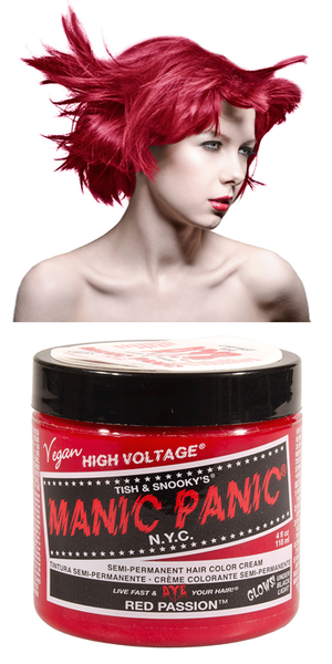 Manic Panic Semi-Permanent Vegan Hair Dye - Red Passion