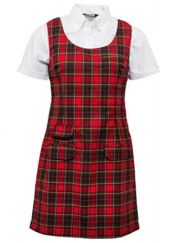 Relco London - Tartan Pinafore Dress