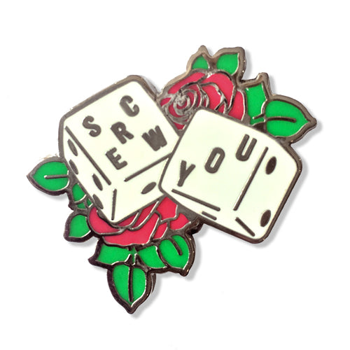Cosmic - Screw You Enamel Pin