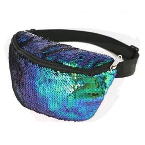 Sequin Bum Bag Blue/Green