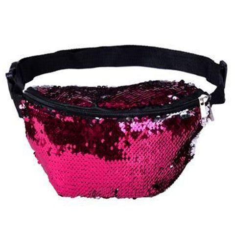 Sequin Bum Bag Pink