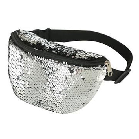 Sequin Bum Bag Silver