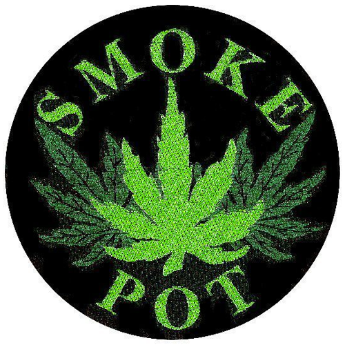 Woven Patch - Smoke Pot
