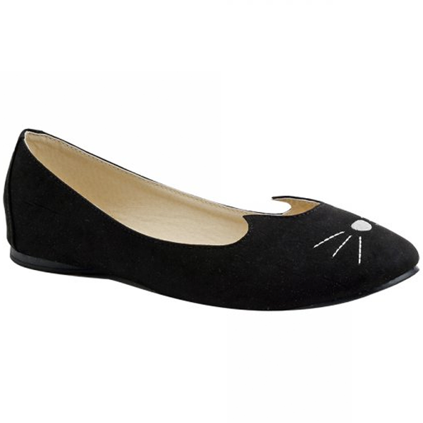 T.U.K -  Black Sophistakitty Ballet Flats