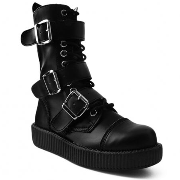 T.U.K -  Black TUKskin™ 3-Buckle Combat Boot
