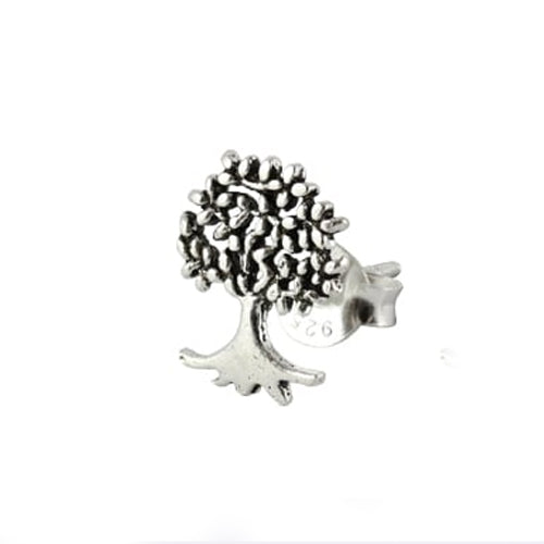 Kingsley Ryan - Tree of Life Silver Ear Stud