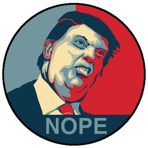 25mm Button Badge - Trump Nope