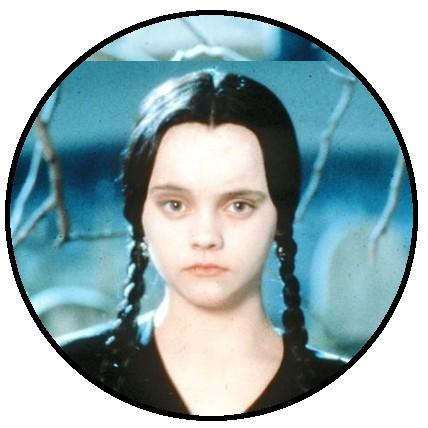 25mm Button Badge - Wednesday Addams