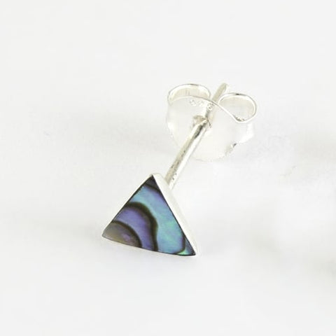 Kingsley Ryan - Abalone Stone Triangle Ear Stud