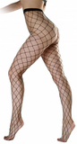 Pamela Mann - Extra Large Net Fishnet Tights Black