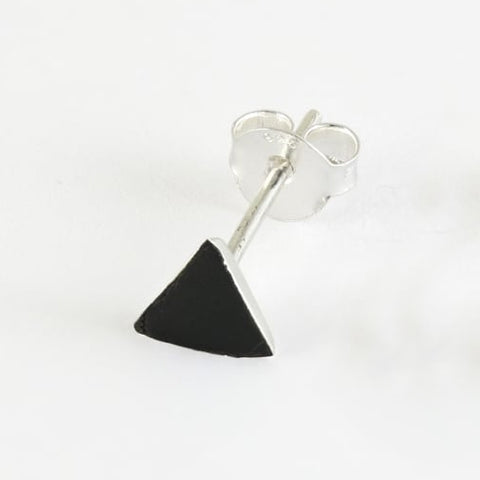 Kingsley Ryan - Black Stone Triangle Ear Stud