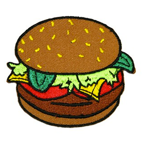 Iron On Patch - Burger