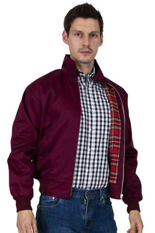 Relco London - Harrington Jacket Burgundy