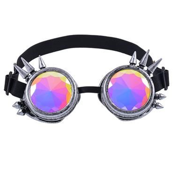 Kaleidoscope Goggles Antique Silver Spike