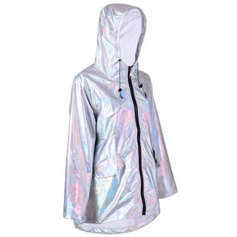 Raincoat Iridescent Silver