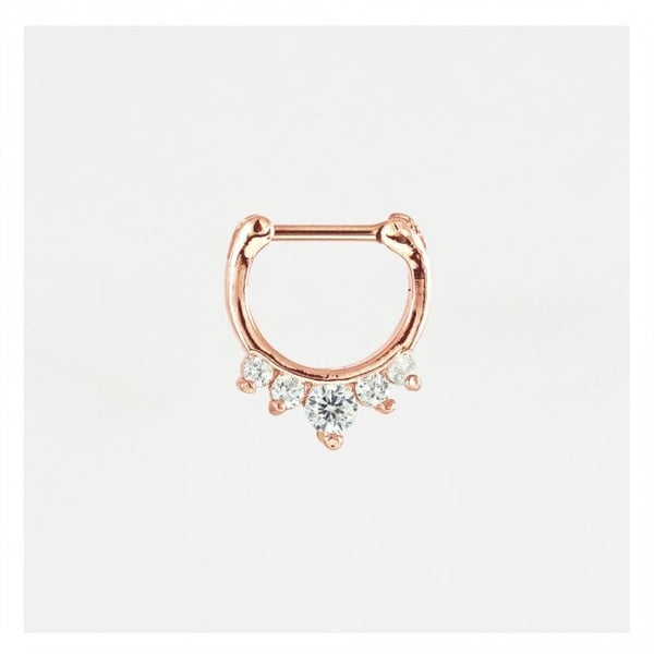 Kingsley Ryan - Jewelled Rose Septum Clicker